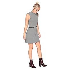 Miss Selfridge - Petite mono jacquard dress