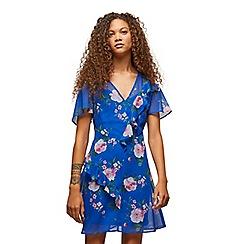 Miss Selfridge - Petite blue floral midi dress