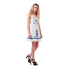 Miss Selfridge - Petites embroidered sun dress