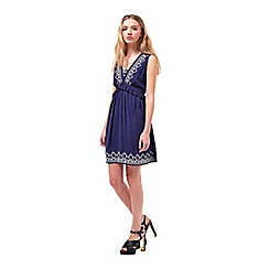 Miss Selfridge - Petites navy frill dress