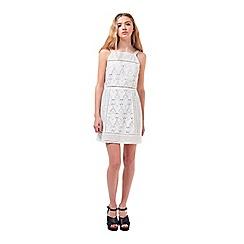 Miss Selfridge - Petites mixed lace shift dress