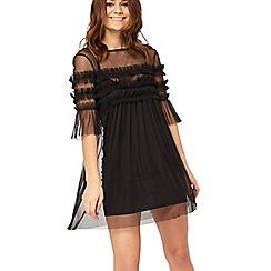 Miss Selfridge - Petite mesh overlay dress