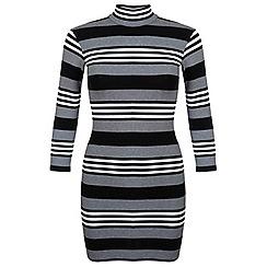 Miss Selfridge - Petites stripe bodycon dress
