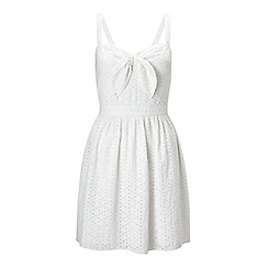 Miss Selfridge - Petites ivory tie front dress