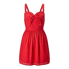 Miss Selfridge - Petites red tie front dress