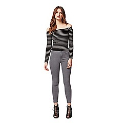 Miss Selfridge - Petites rib stripe bardot top