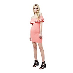 Miss Selfridge - Petites coral bodycon dress