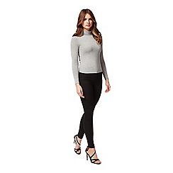 Miss Selfridge - Petites grey roll neck top