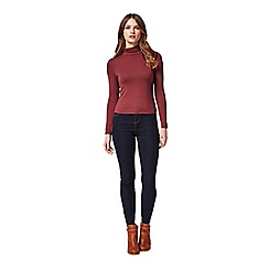 Miss Selfridge - Petites burgundy roll neck top