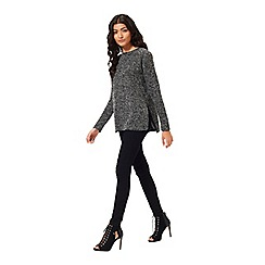 Miss Selfridge - Petites grey boucle tunic top