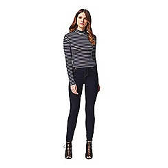 Miss Selfridge - Petites navy stripe rollneck