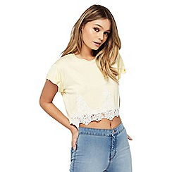 Miss Selfridge - Petite crochet hem tee