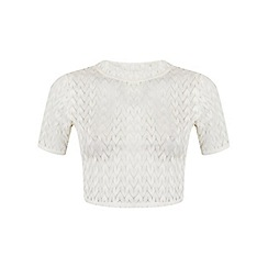 Miss Selfridge - Petites ivory lace top