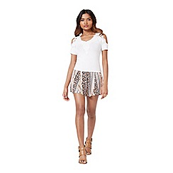 Miss Selfridge - Petites ivory crochet top