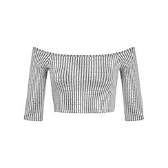 Miss Selfridge - Petites bardot rib crop top