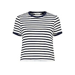 Miss Selfridge - Petites stripe ringer tee