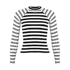 Miss Selfridge - Petites stripe polo neck top