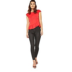Miss Selfridge - Petite frill hem t-shirt