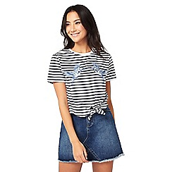 Miss Selfridge - Petites stripe bird t-shirt
