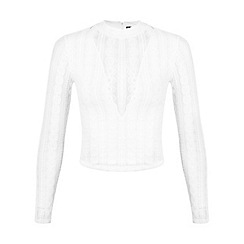 Miss Selfridge - Petites lace long sleeve top