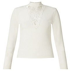 Miss Selfridge - Petites lace long sleeve top