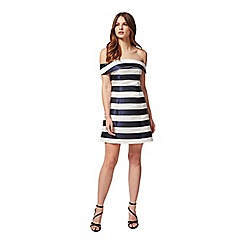 Miss Selfridge - Petites stripe bardot dress