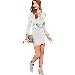 Miss Selfridge - Petites choker twist dress