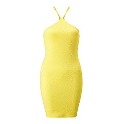 Miss Selfridge - Petites 90s neck bodycon dress