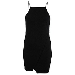 Miss Selfridge - Petites wrap bodycon dress