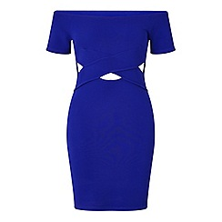 Miss Selfridge - Petites bardot cut out dress