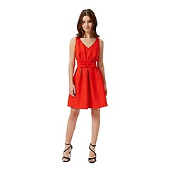 Miss Selfridge - Petites red bow front dress