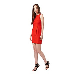 Miss Selfridge - Petites red bow back dress
