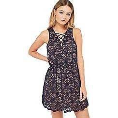 Miss Selfridge - Petites navy lace dress