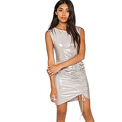 Miss Selfridge - Petite metallic ruched dress