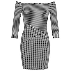 Miss Selfridge - Petites stripe cutabout dress