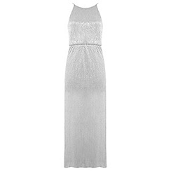 Miss Selfridge - Petites silver maxi dress