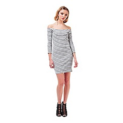 Miss Selfridge - Petites stripe bodycon dress