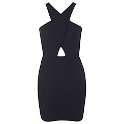 Miss Selfridge - Petites black choker bodycon