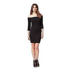 Miss Selfridge - Petites bardot rib dress