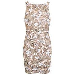 Miss Selfridge - Petites nude embellished dress