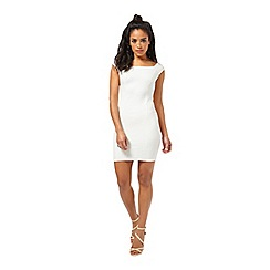 Miss Selfridge - Petites bardot bodycon dress