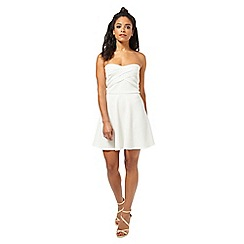 Miss Selfridge - Petites ivory skater dress