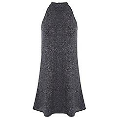 Miss Selfridge - Petites glitter rib dress