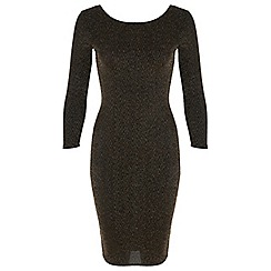 Miss Selfridge - Petites gold midi dress