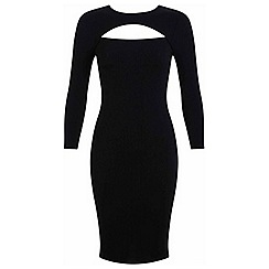 Miss Selfridge - Petites rib bodycon midi dress