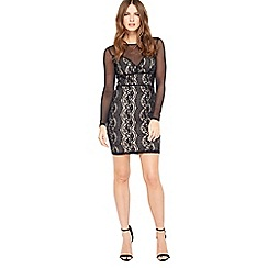 Miss Selfridge - Petite mesh and lace dress