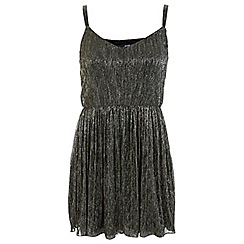 Miss Selfridge - Petites shimmer skater dress