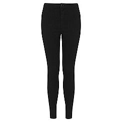 Miss Selfridge - Petites black high waist jeans