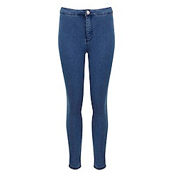 Miss Selfridge - Petites blue high waist jean