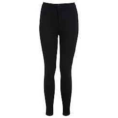 Miss Selfridge - Petites black high waist jeans